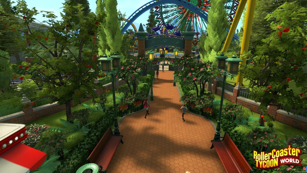 RollerCoaster Tycoon World will display in a full 3D high definition enviroment